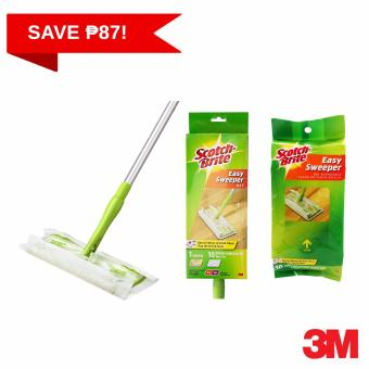 3M Scotch-Brite Easy Sweeper Starter Kit w/ Dry Cloth Refill