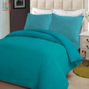 4 Pieces Sheet Set Beddings Microfiber Plain Full Size Bedsheet byModern Linens (Turquoise)