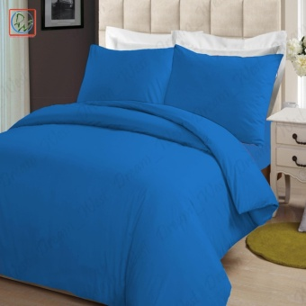 4 Pieces Sheet Set Beddings Microfiber Plain Full Size Breezy CoolBedsheet by Modern Linens (Blue)
