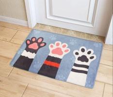40 X 60cm Cute Cat Claw Printed Mat Doormats Bathroom Carpets Floor Mats Bedroom Rugs Kitchen Rug Living Room Anti Slip