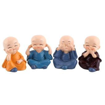 4pcs Resin Crafts Ornament Figurine Automotive Home Decoration - intl