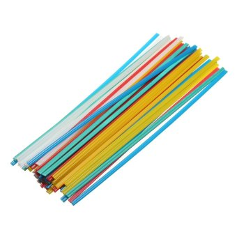 50Pcs PP Blue/Yellow/Red And PVC green plastic welding rods welding electrodes - intl
