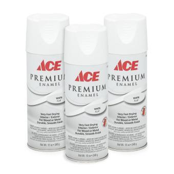 Ace Hardware Premium Enamel Flat Spray Paint Set Of 3 White Lazada Ph