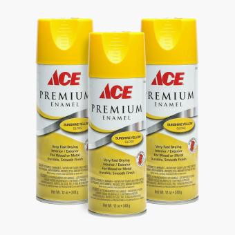 Ace Hardware Premium Enamel Glossy Spray Paint Set Of 3 Sunshine Yellow Lazada Ph