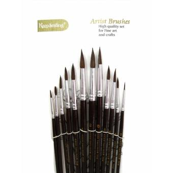 Artist Brush Set 12 Brushes Professional For Oil, Water, AcrylicColor