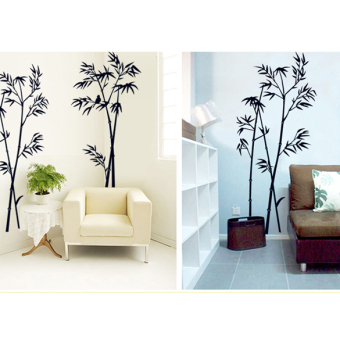 bamboo mural removable craft art black wall sticker decal
