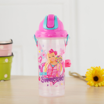 Barbie female with straw portable student plastic cup cups
