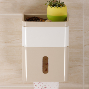 Bathroom waterproof roll tube can be toilet paper holder bathroom tissue box
