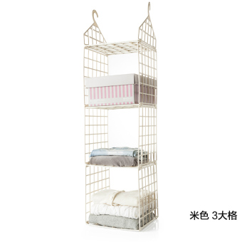 BELO hanging clothes basket dormitory clothes storage hanging bag storage rack