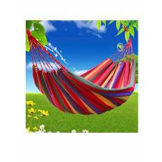 Big Bash Colorful Canvas Hammock Duyan Hanging Sleeping Bed