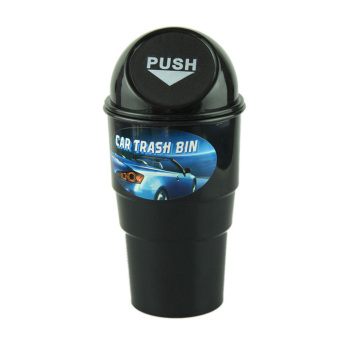 Bigskyie NEW car garbage can Car Trash Can Garbage Dust Case HolderBin Black - Intl