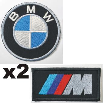 BMW Roundel Embroidered Cloth Patch & M Power Patch Set (Get 2)
