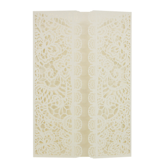 BolehDeals 20Pcs Lace Decor Elegant Laser Cut Wedding Party Invitation Cards White - intl