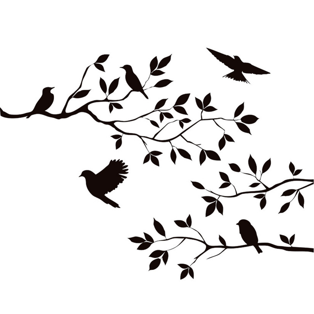 Branch Birds Wall Sticker Decal Mural DIY Living Room Bedroom Art - Diy wall decor birds