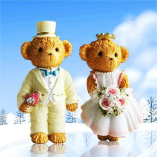 Cartoon Bear wedding veil bear Teddy Bear resin fridge magnet magnetic stickers