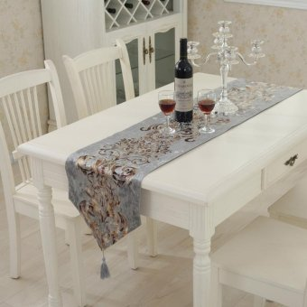 Classic Modern Cotton Linen Table Table Runner color:#4size:33*180cm - intl