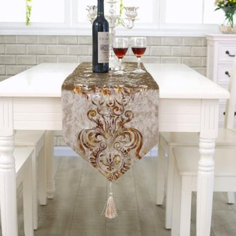 Classic Modern Cotton Linen Table Table Runner color:#5 size:33*210cm - intl