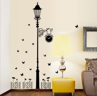 Cool black bedroom living room wall adhesive paper wall stickers