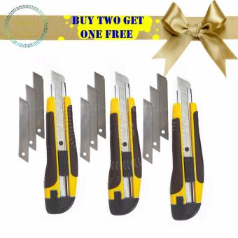 Cutter Knife with Free Blade 3PCS (Yellow)