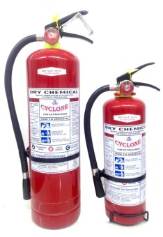 Cyclone Fire Extinguisher ABC Dry Chemical Bundle (Red)