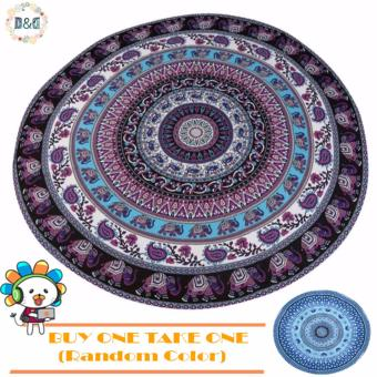 D&D Women Fashion Chiffon Bohemian Style Printed Round BeachTowel (Buy One Take One)