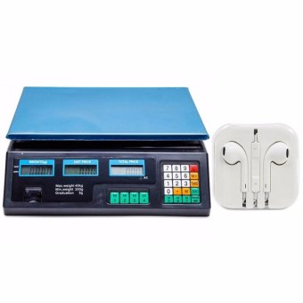 Digital Price Computing Scale (Black) with Headset White