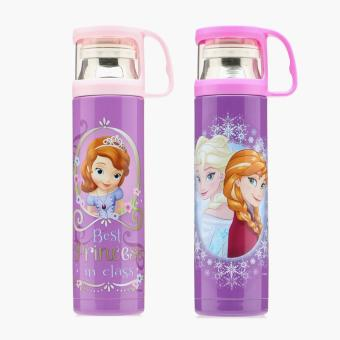 Disney Frozen and Sofia The First Stainless Steel Water Bottles (Set of 2)