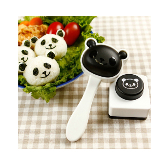 Diy panda rice sushi Nori seaweed embossed Device