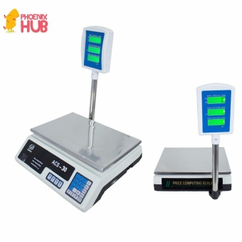 Electronic Digital Price Computing Platform Scale ACS-30 200g to30kg(White)