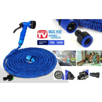 Expandable Garden Hose up to 100 ft (Blue)