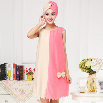 Female adult large towel bath skirt bath towel