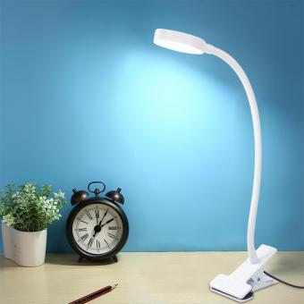 Fengsheng Day White LED Flexible Reading Light Clip-on Bed Table Desk Lamp - intl