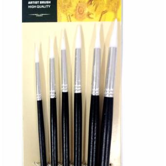 Fine Artist Brush Set 6pcs Round Painting brushes Wooden for oil,acrylic and Watercolor