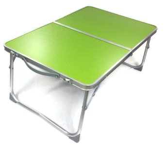 Folding in Half Laptop Computer Table Breakfast in Bed or Office Desk Standing Work Table, Kiddie Table (Green)