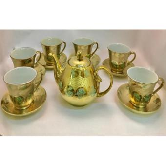 GOLD PLATED TEA CUP SET