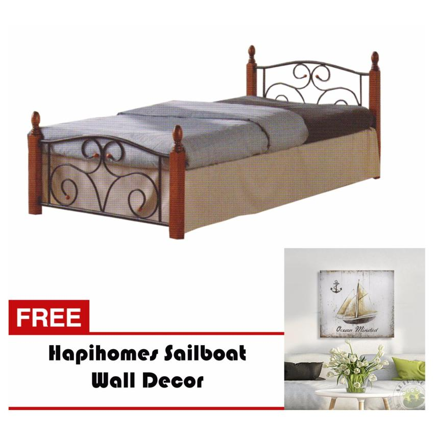 Bed frame for sale bed frames prices brands in for Bed frame wall decal