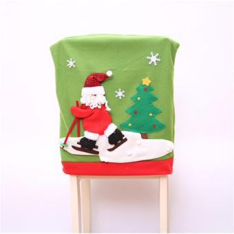HengSong Santa Claus Hat Chair Cover Christmas XMAS Decoration Party Holiday - intl