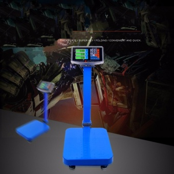 High Accuracy 150KGS Electronic Digital Industrial Platform Scale Large LCD Display