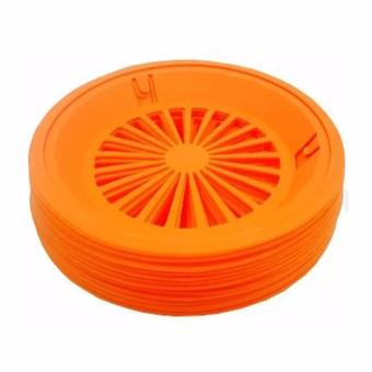 Homex Party Plastic Paper Plate Holder 12 Pcs Set (Orange)