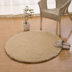 Lamb Fur Round Computer Pad Basket Wicker Chair Living Room Carpet Bedroom CarpetFF