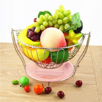 Living room Stainless Steel Decorative drain basket storage basket dish fruit plate