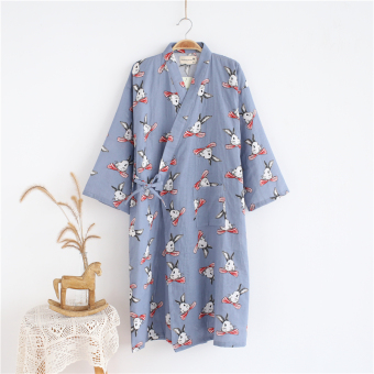 LOOESN casual cotton female Japanese-style pajamas nightgown