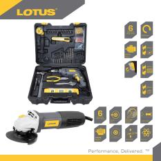power tools for sale. lotus lid13repk 13mm impact drill with 45pcs diy tool kit (black) angle grinder 4\ power tools for sale