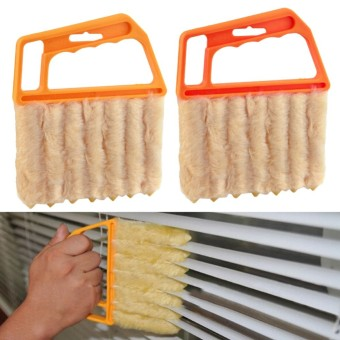 Microfibre Venetian Blind Brush Window Air Conditioner Duster DirtClean Cleaner - intl