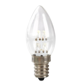 Mini E12 LED 0.5W Candle Light Bulb Lamp DC 220V 80LM White/Warm White Color - intl