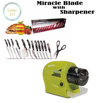 Miracle Blade with Knife Sharpener (Green)