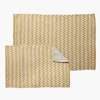 Mirage 2 piece chevron floor mat yellow lazada ph - Yellow kitchen floor mats ...