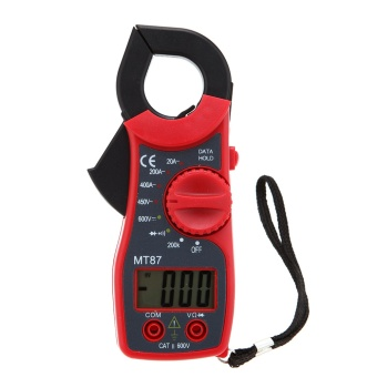 MT87 3 1/2 Digits LCD Digital Clamp Meter AC/DC Voltmeter ACAmmeter Ohmmeter Diode Continuity Tester with Data Hold Multimeter- intl