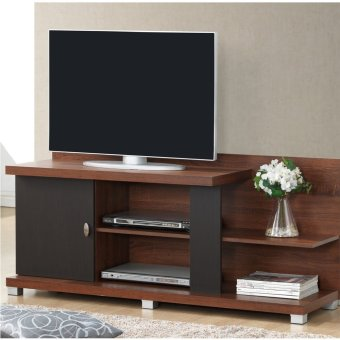 Myhomeifc Ts0051 Tv Stand Wooden Cabinet Tv Rack Espresso Oak Lazada Ph