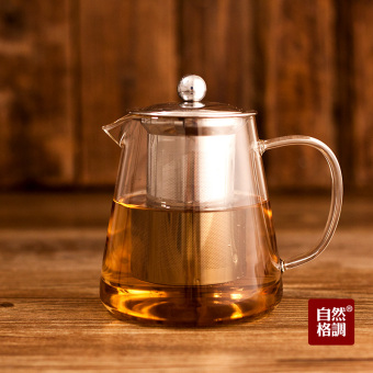 Natural Style Large Capacity stainless steel filter teapot